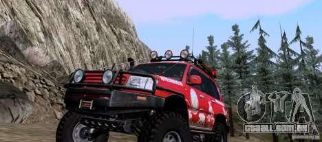 Toyota Land Cruiser 100 Off-Road para GTA San Andreas esquerda vista