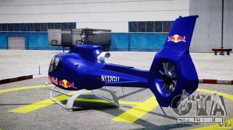 Eurocopter EC130 B4 Red Bull para GTA 4 traseira esquerda vista