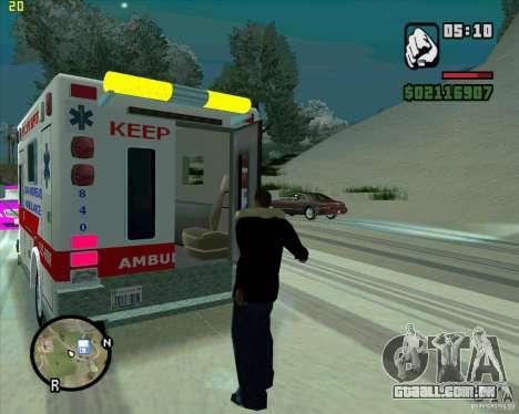 Ambulância para GTA San Andreas