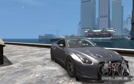 Nissan GT-R v1.1 Tuned para GTA 4 vista de volta