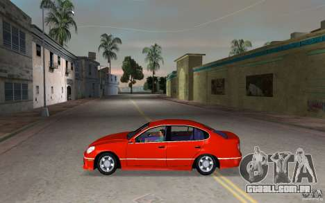 Lexus GS430 para GTA Vice City deixou vista