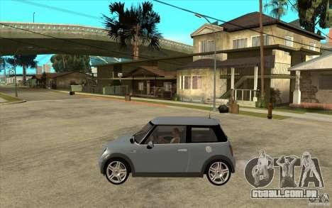 Mini Cooper - Stock para GTA San Andreas esquerda vista