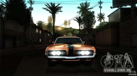 Mercury Cougar Eliminator 1970 para GTA San Andreas vista superior