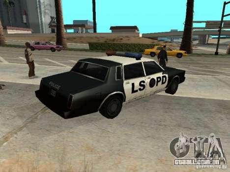 Tahoma Police para GTA San Andreas esquerda vista