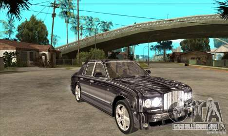 Bentley Arnage T para GTA San Andreas vista interior