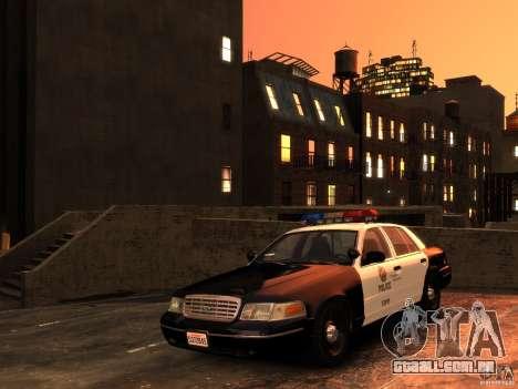 Ford Crown Victoria LAPD v1.1 [ELS] para GTA 4 vista de volta