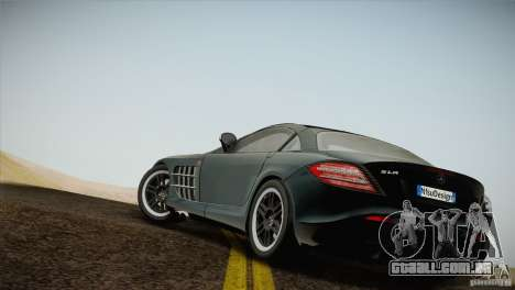 Mercedes SLR McLaren 722 Edition Final para GTA San Andreas esquerda vista