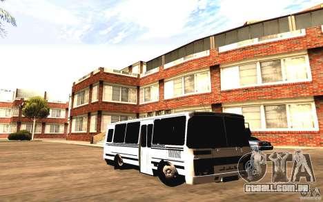 PAZ 3205 Dag para GTA San Andreas traseira esquerda vista