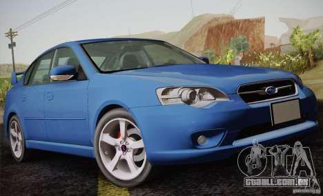 Subaru Legacy 2004 v1.0 para vista lateral GTA San Andreas