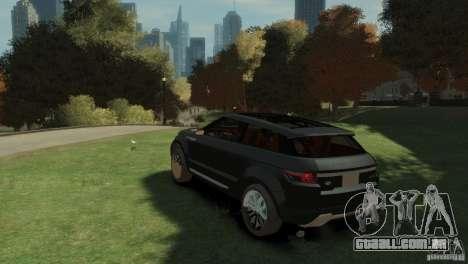 Land Rover Rang Rover LRX Concept para GTA 4 esquerda vista