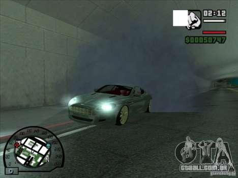 Fumaça saindo debaixo das rodas, como no NFS Pro para GTA San Andreas segunda tela