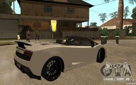 Lamborghini Gallardo LP570-4 para GTA San Andreas vista direita