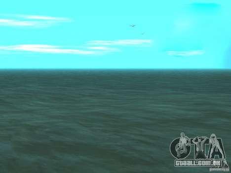 Água nova para GTA San Andreas quinto tela