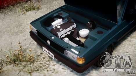 Volkswagen Gol GL para GTA 4 vista de volta