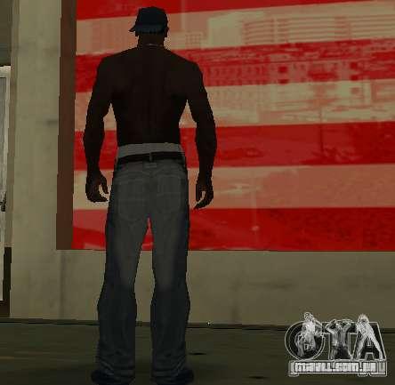 Novo jeans para CJ para GTA San Andreas por diante tela