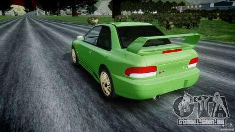 Subaru Impreza 22b 1998 (final) para GTA 4 traseira esquerda vista