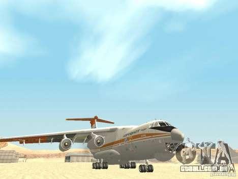 Ilyushin 76 TD (bombeiro) para GTA San Andreas vista traseira