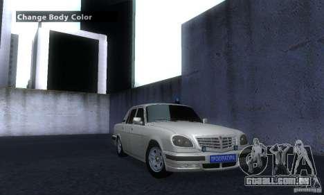 GAZ Volga 31105 advogado para GTA San Andreas vista direita