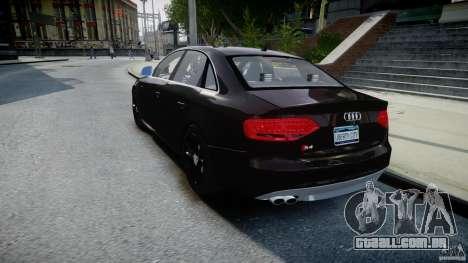 Audi S4 Unmarked [ELS] para GTA 4 traseira esquerda vista