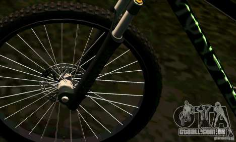 Bicicleta com Monster Energy para GTA San Andreas vista direita