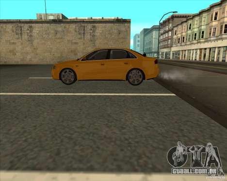 AUDI S4 Sport para GTA San Andreas vista traseira