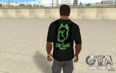 Pit bill t-shirt para GTA San Andreas segunda tela