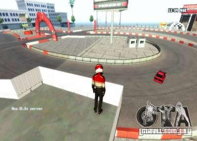 Drift de Londres para GTA San Andreas por diante tela