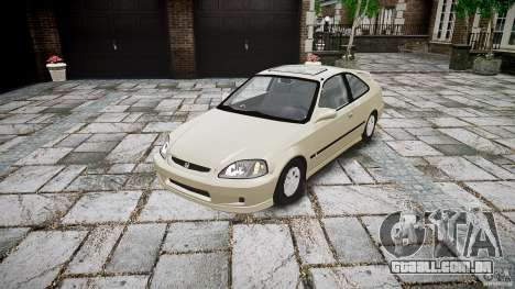 Honda Civic Coupe para GTA 4 vista de volta