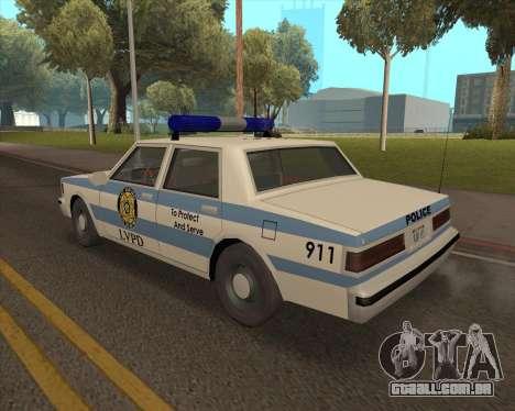 Updated LVPD para GTA San Andreas esquerda vista