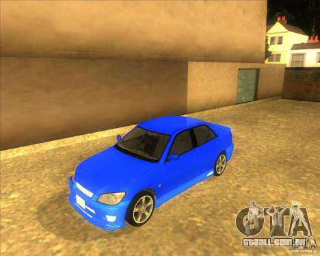 Toyota Altezza RS200 1998 para GTA San Andreas