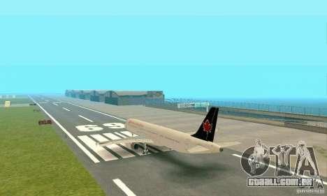 Airbus A321 Air Canada para GTA San Andreas vista direita