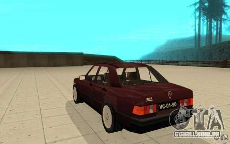 Mercedes-Benz 190 E (W201) 1984 version 1.0 para GTA San Andreas traseira esquerda vista