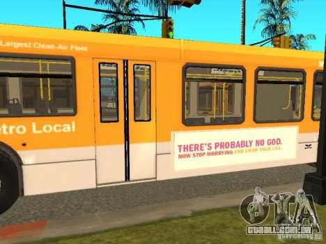 New Flyer D40LF para GTA San Andreas esquerda vista