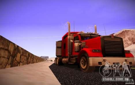 Kenworth W 900L para GTA San Andreas traseira esquerda vista
