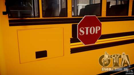 School Bus [Beta] para GTA 4 vista interior