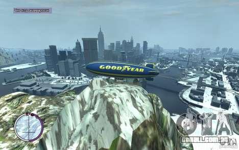 Dirigível para GTA 4 vista lateral
