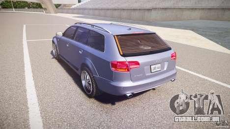Audi A6 Allroad Quattro 2007 wheel 1 para GTA 4 traseira esquerda vista