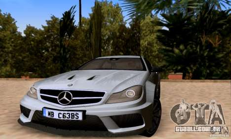 Mercedes-Benz C63 AMG para o motor de GTA San Andreas
