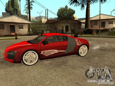 Audi R8 para GTA San Andreas vista superior