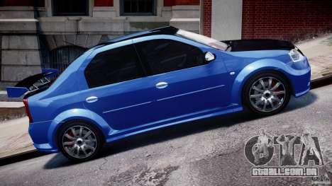 Dacia Logan 2008 [Tuned] para GTA 4 vista lateral