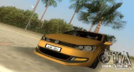Volkswagen Polo 2011 para GTA Vice City vista traseira esquerda