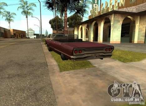 Veículos estacionados na Grove Street para GTA San Andreas por diante tela