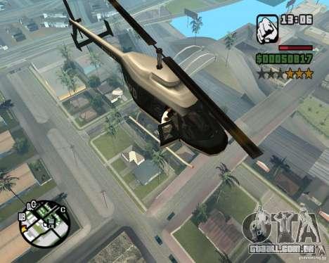 Helicóptero Zaprygivayem para GTA San Andreas por diante tela
