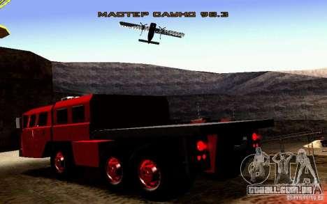 Maz-7310 Civil versão estreita para vista lateral GTA San Andreas