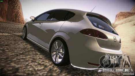 Seat Leon Cupra para GTA San Andreas vista direita