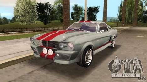 Ford Shelby GT500 para GTA Vice City vista traseira