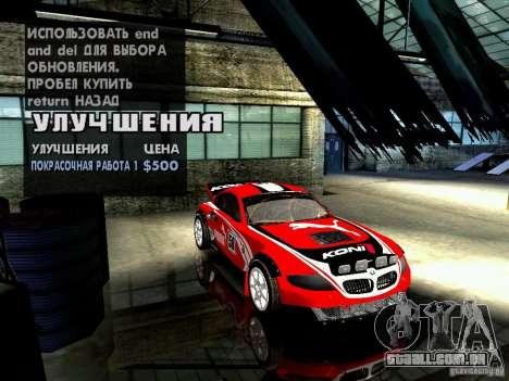 BMW Z4 Rally Cross para GTA San Andreas interior