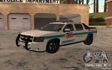 Chevrolet Avalanche Orange County Sheriff para GTA San Andreas