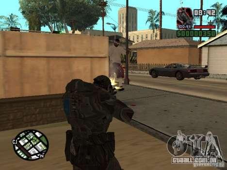 Marcus Fenix do Gears of War 2 para GTA San Andreas terceira tela