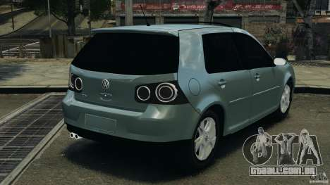 Volkswagen Golf Sportline 2011 para GTA 4 traseira esquerda vista